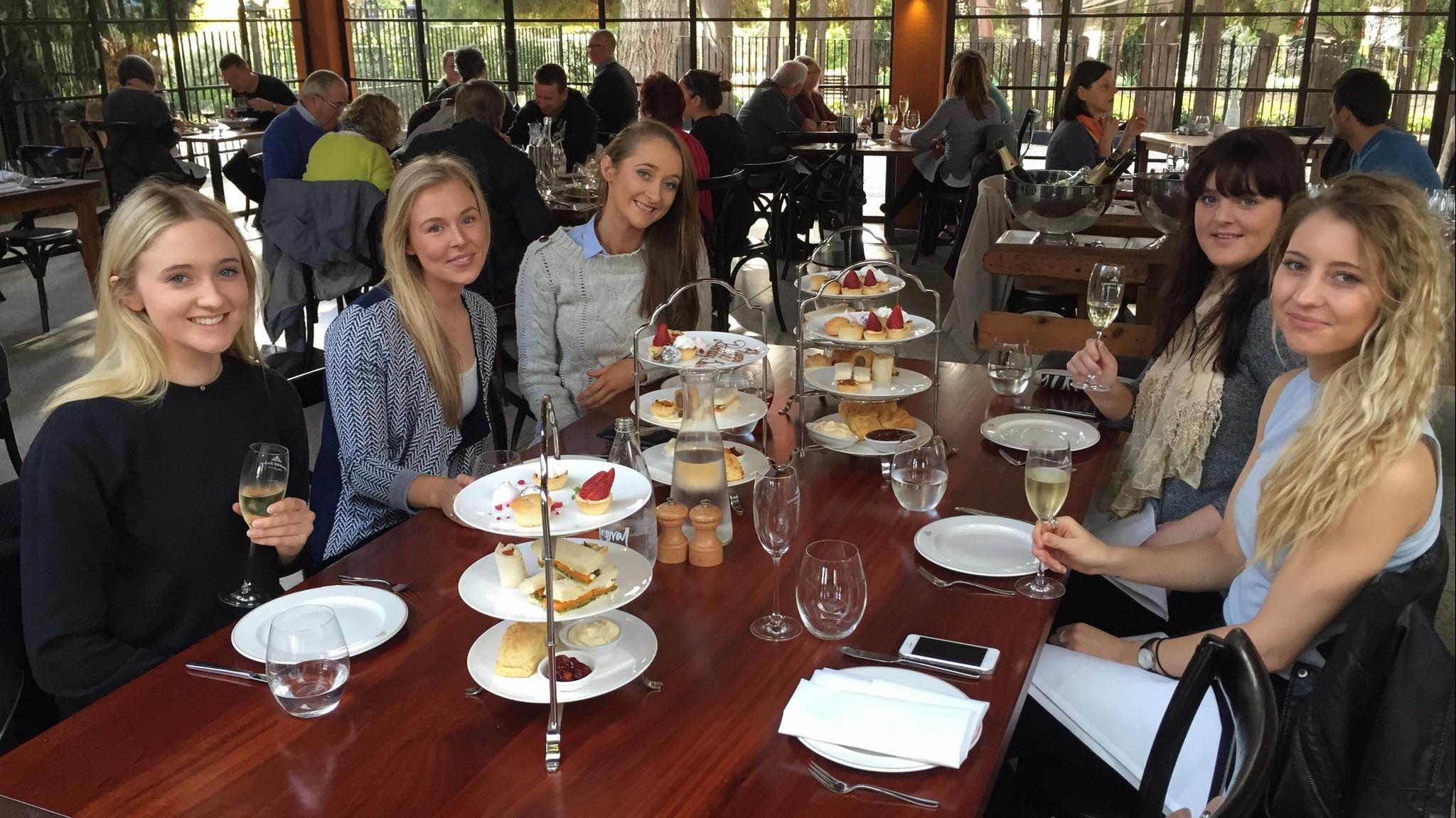 Ladies enjoying High Tea