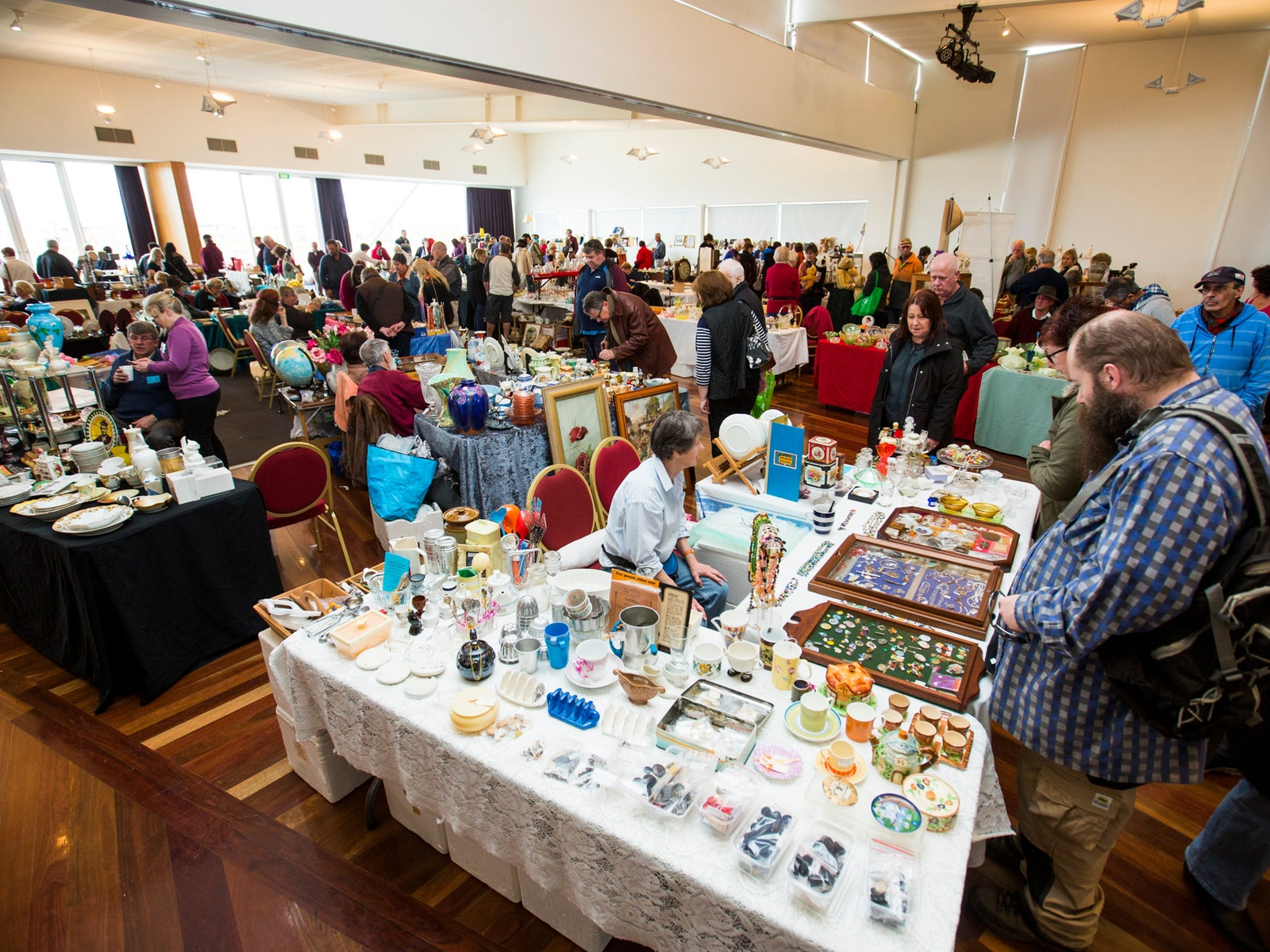 A view of some of the 44 stalls in the main hall