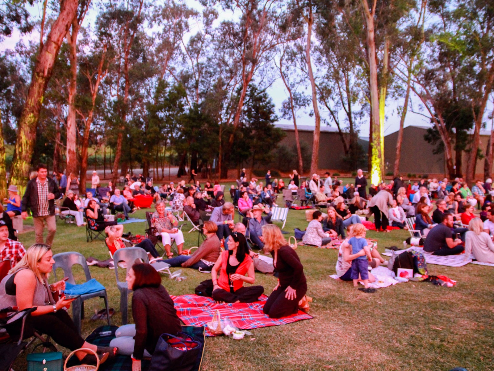Picnic concert on the lawns at Helen's Hill