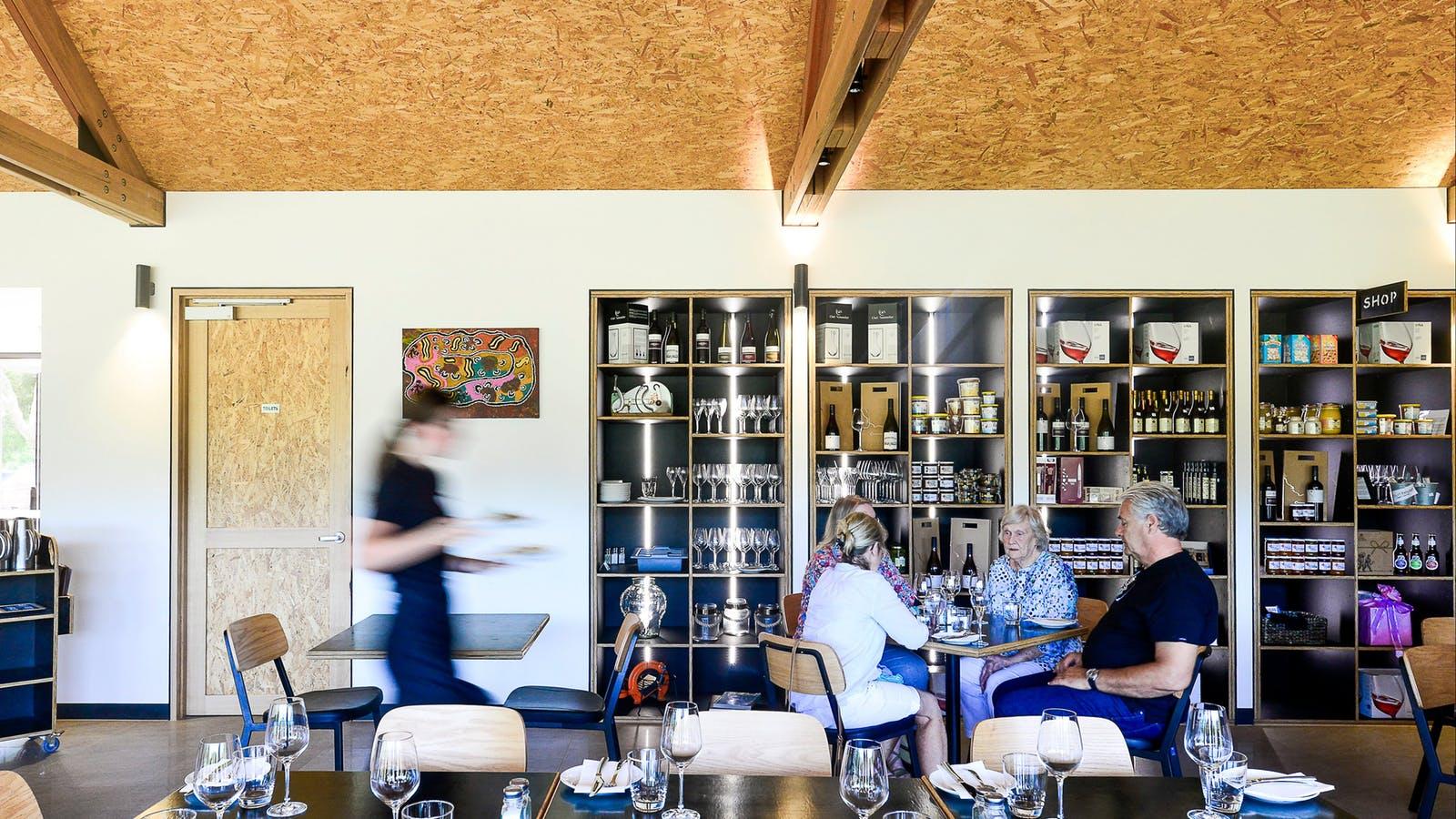 Restaurant interior and shop