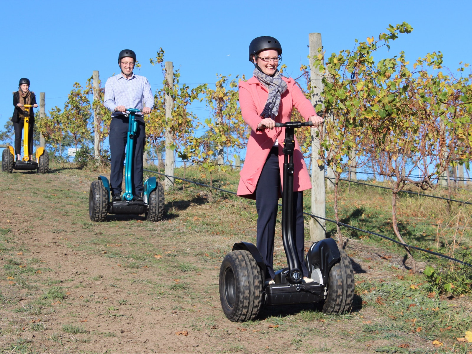 Riding a Segway around the Balgownie Resort