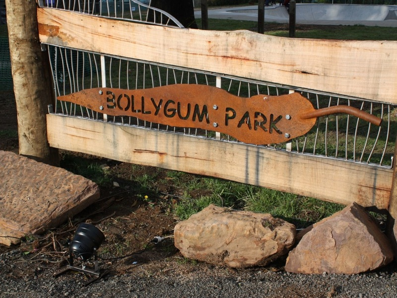 Bollygum Park Entry Sign