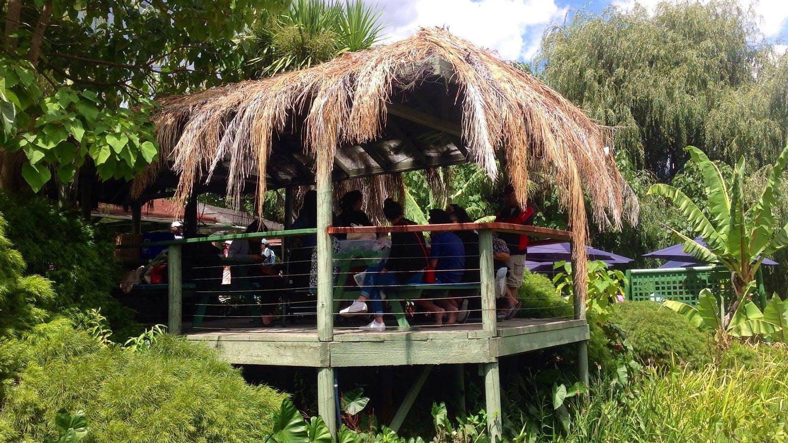 Family picnic and barbecue hut, Peter Cochrane