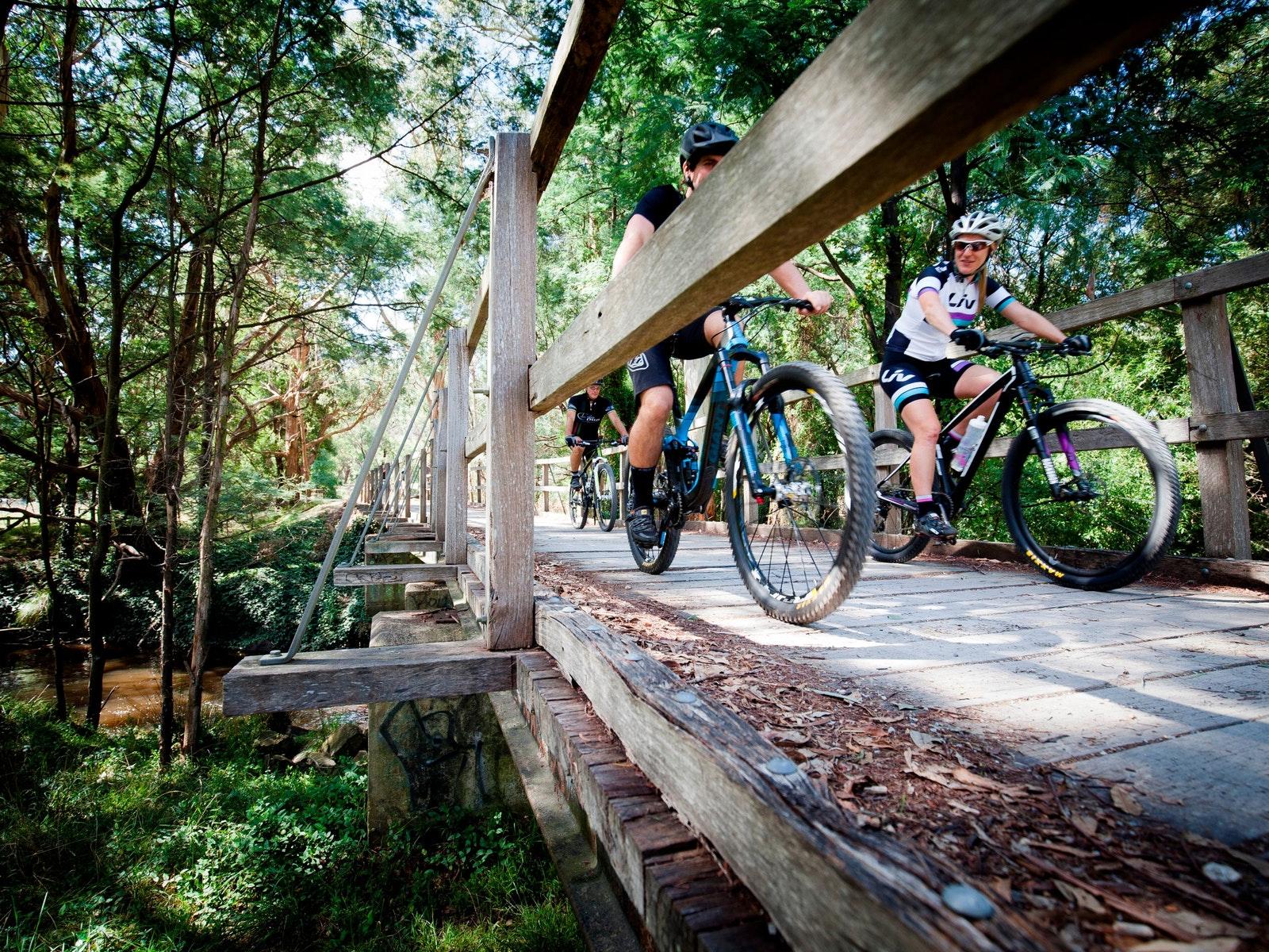 Timber bridge over Little Yarra. Wesburn