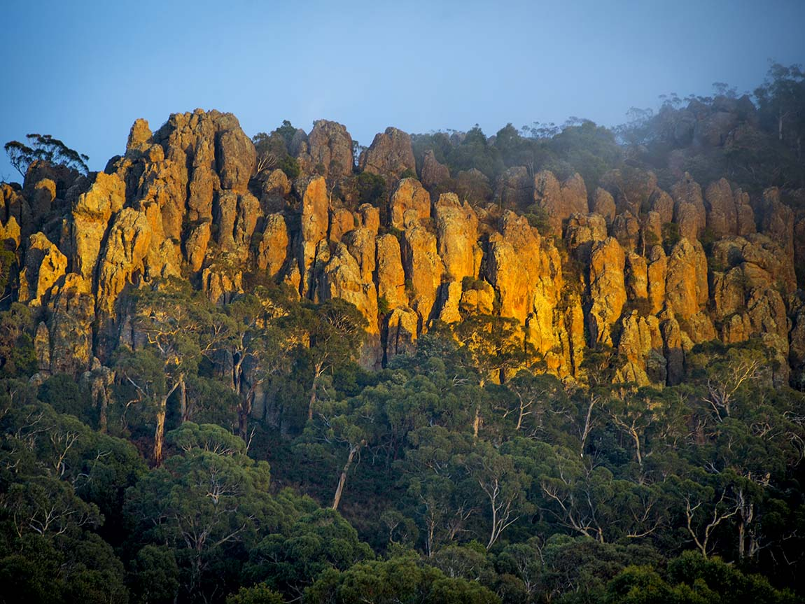 Hanging Rock, Daylesford and the Macedon Ranges, Victoria, Australia