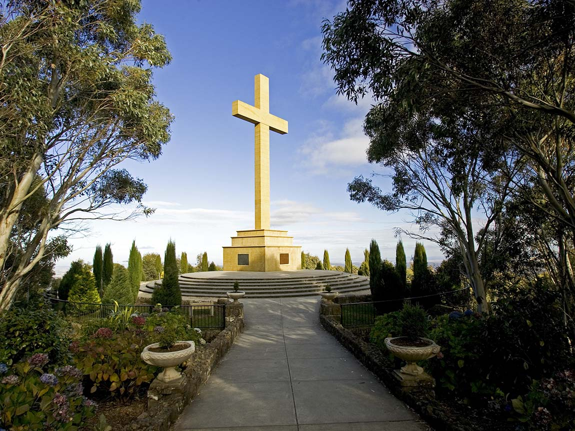 Mount Macedon Memorial Cross, Daylesford and the Macedon Ranges, Victoria, Australia