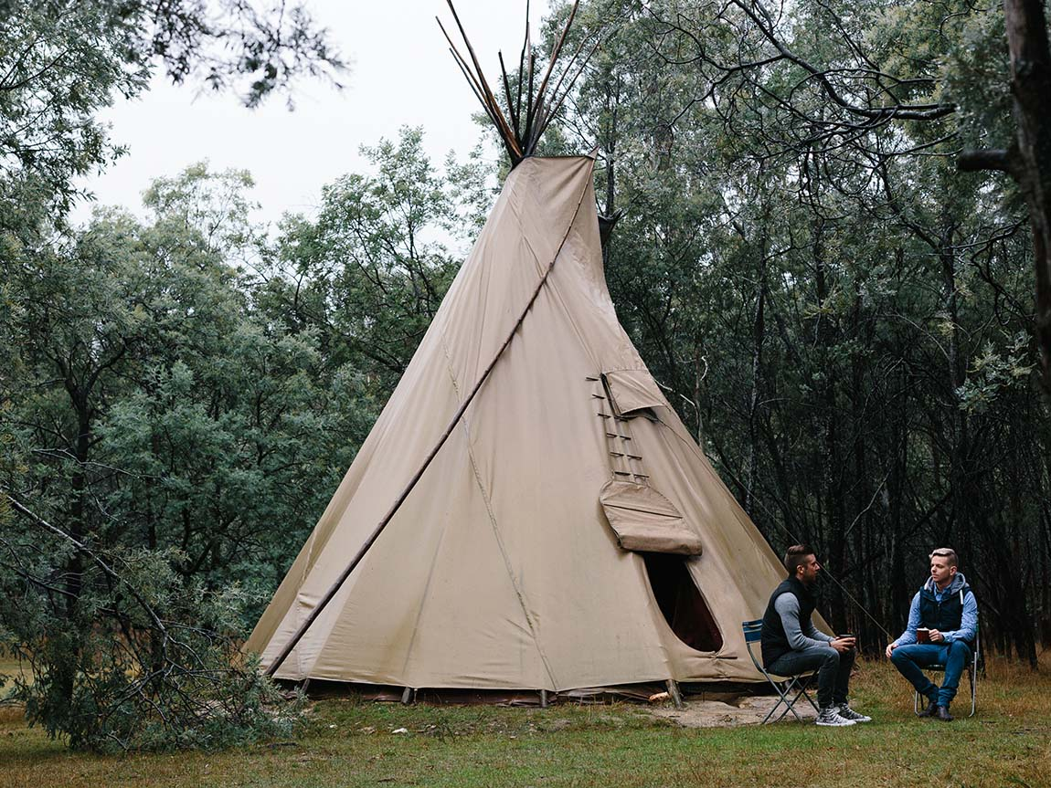 Camping, Daylesford and the Macedon Ranges, Victoria, Australia
