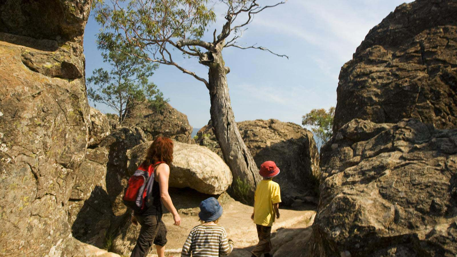 Hiking at Hanging Rock, Daylesford and the Macedon Ranges, Victoria, Australia