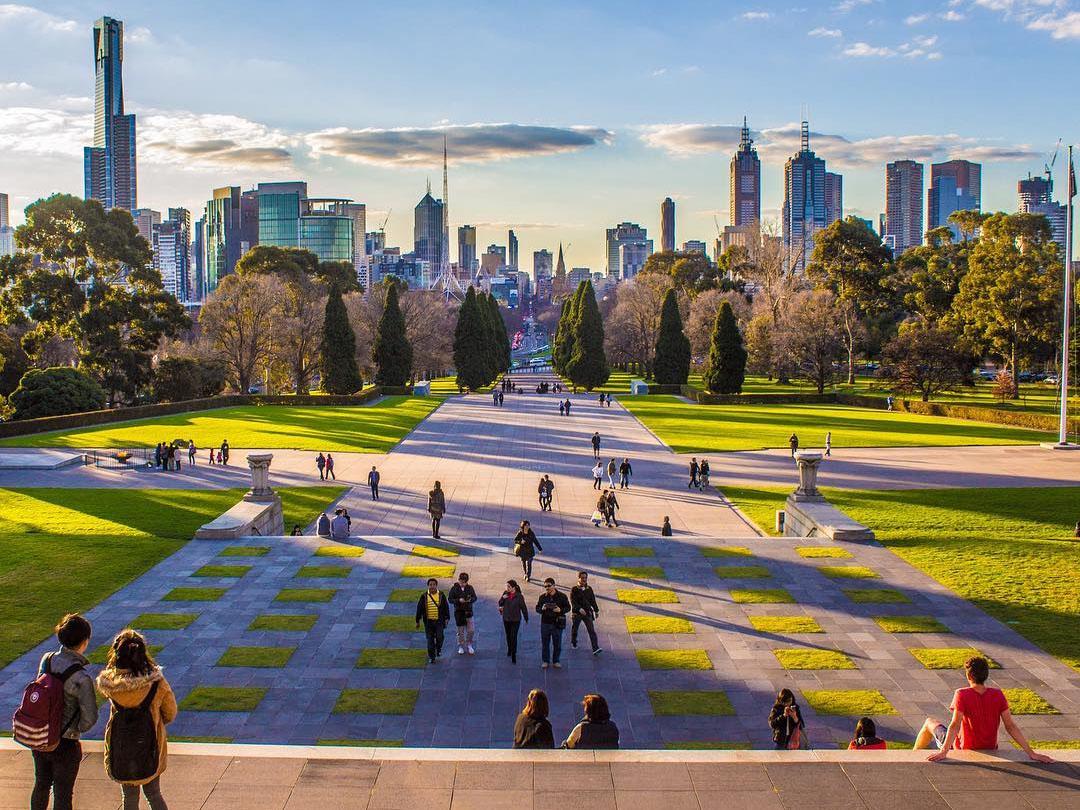Shrine of Remembrance, Melbourne, Victoria, Australia. Credit: RayofMelbourne