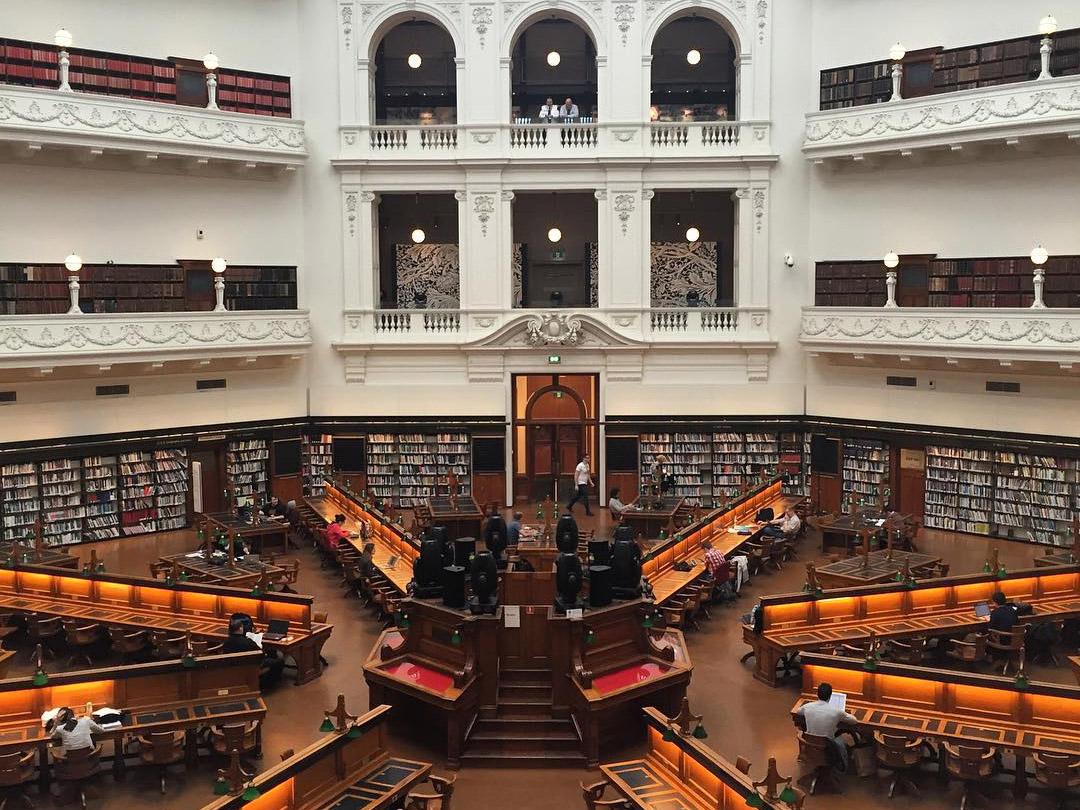 State Library Reading Room, Melbourne, Victoria, Australia
