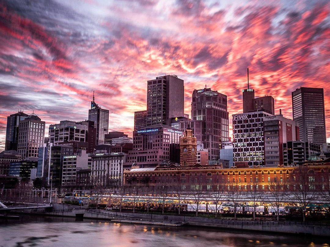 Yarra River, Melbourne, Victoria, Australia. Credit: ChristopherMaxwell