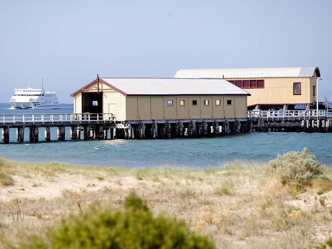 Queenscliff Pier, Geelong and the Bellarine, Victoria, Australia