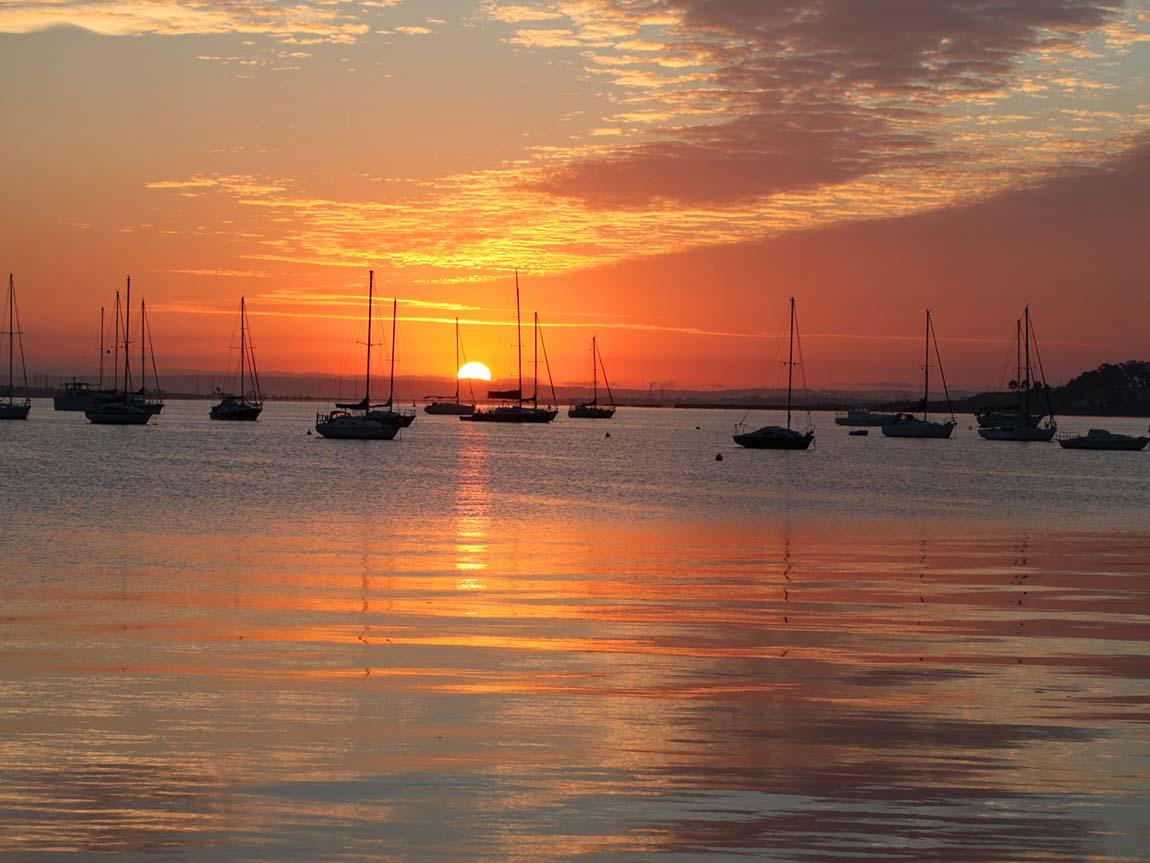 Sunset over Corio Bay at Geelong, Geelong and the Bellarine, Victoria, Australia. Photo: Barton van Laar