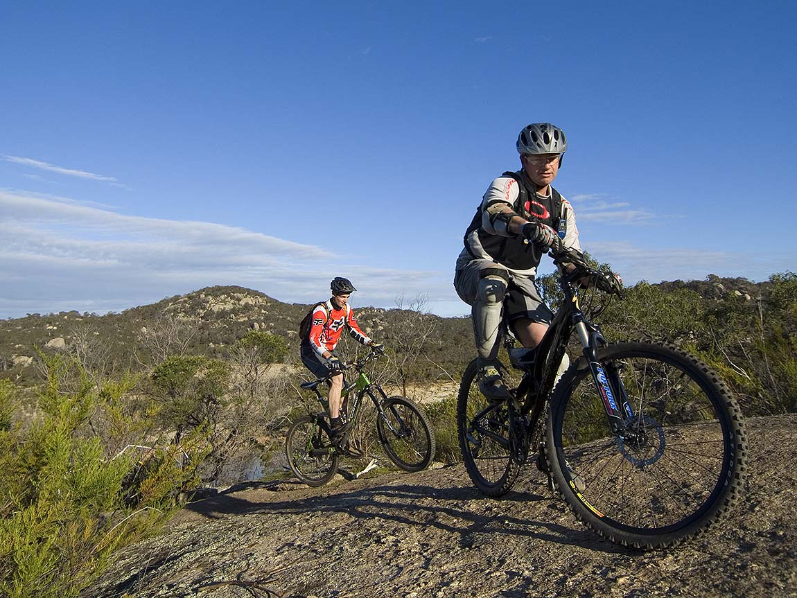 Mountain biking in You Yangs Regional Park, Geelong and the Bellarine, Victoria, Australia