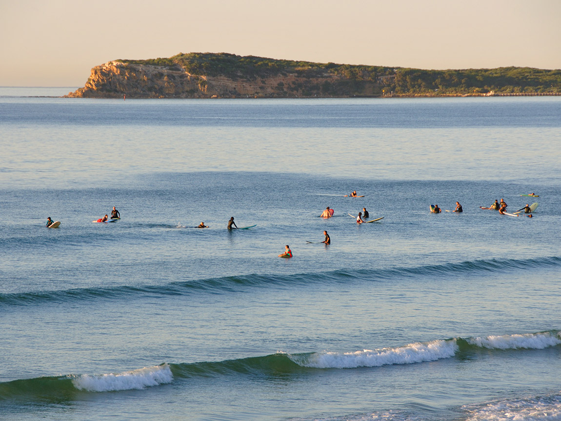Surfing at Barwon Heads, Geelong and the Bellarine, Victoria, Australia
