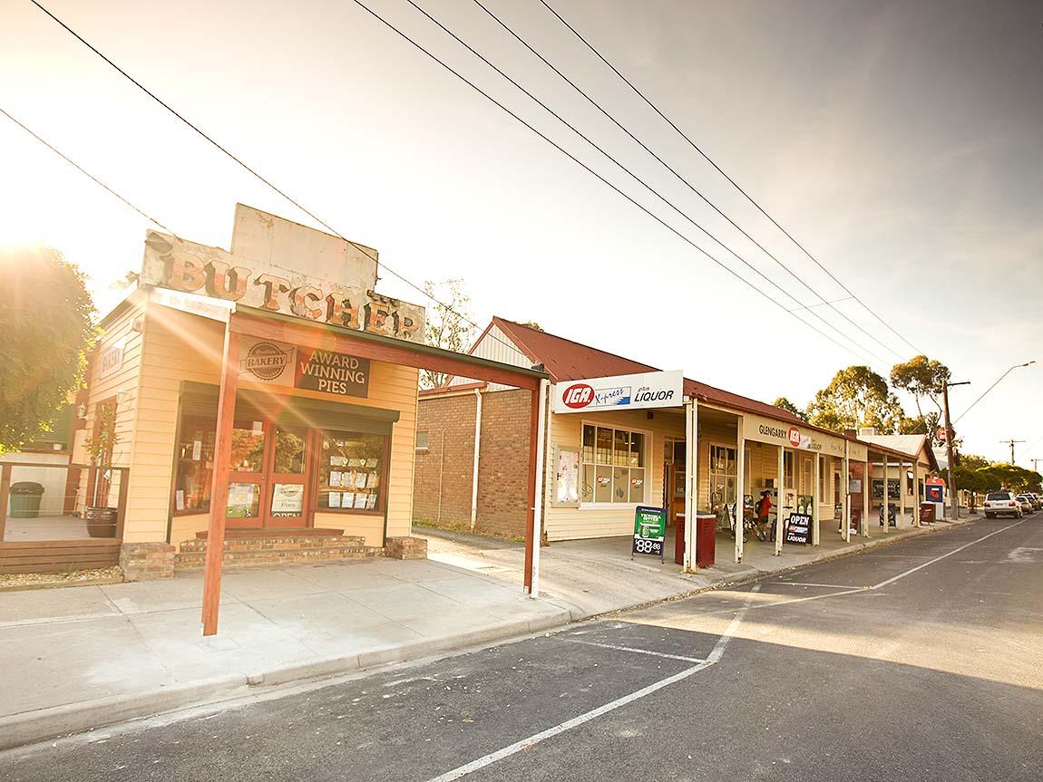 Glengarry streetscape, Gippsland, Victoria, Australia