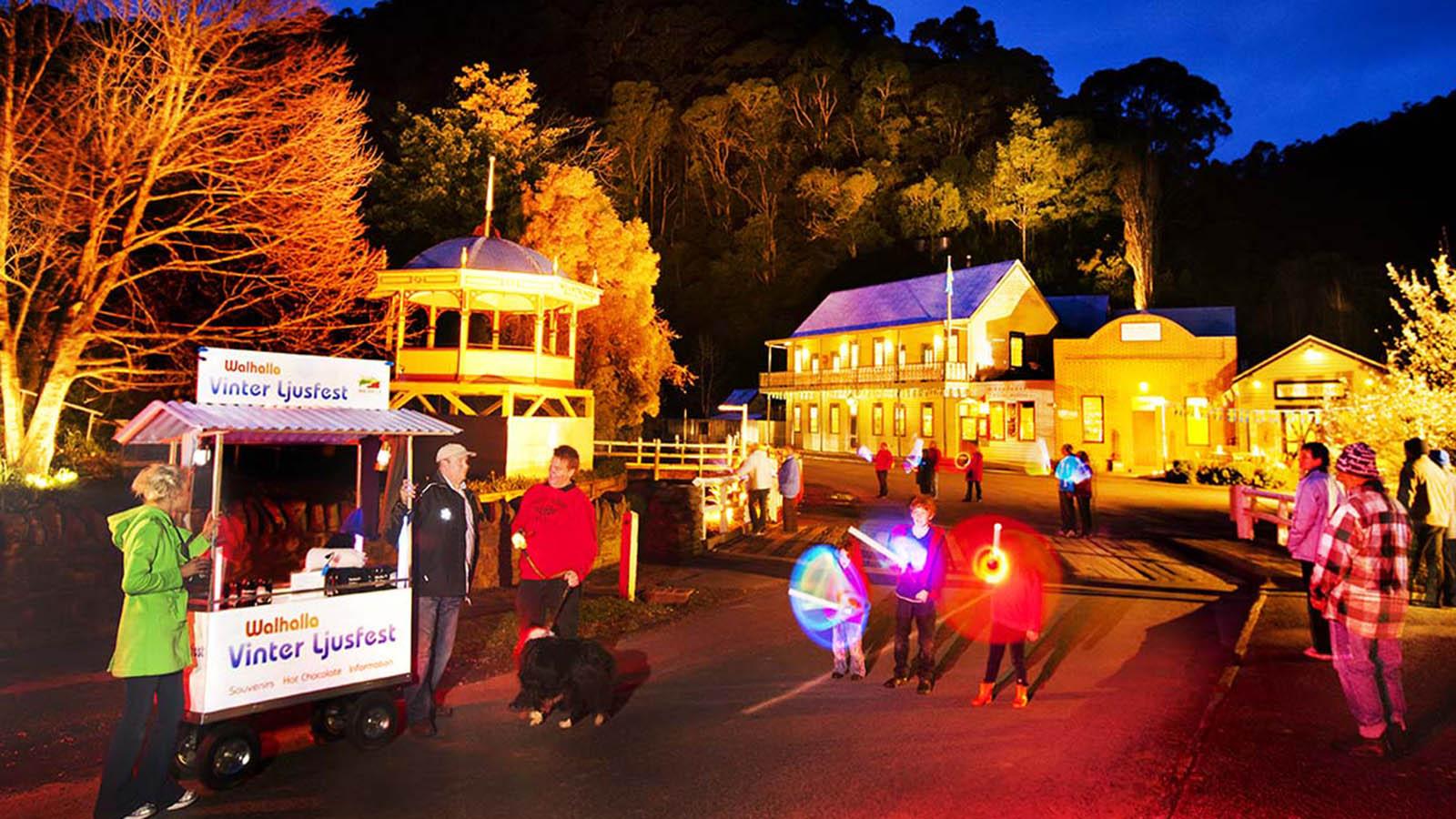 Walhalla Ljusfest, Gippsland, Victoria, Australia