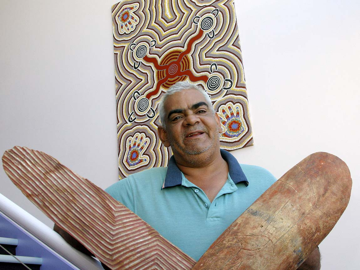 Aboriginal art work in Gippsland, Victoria, Australia