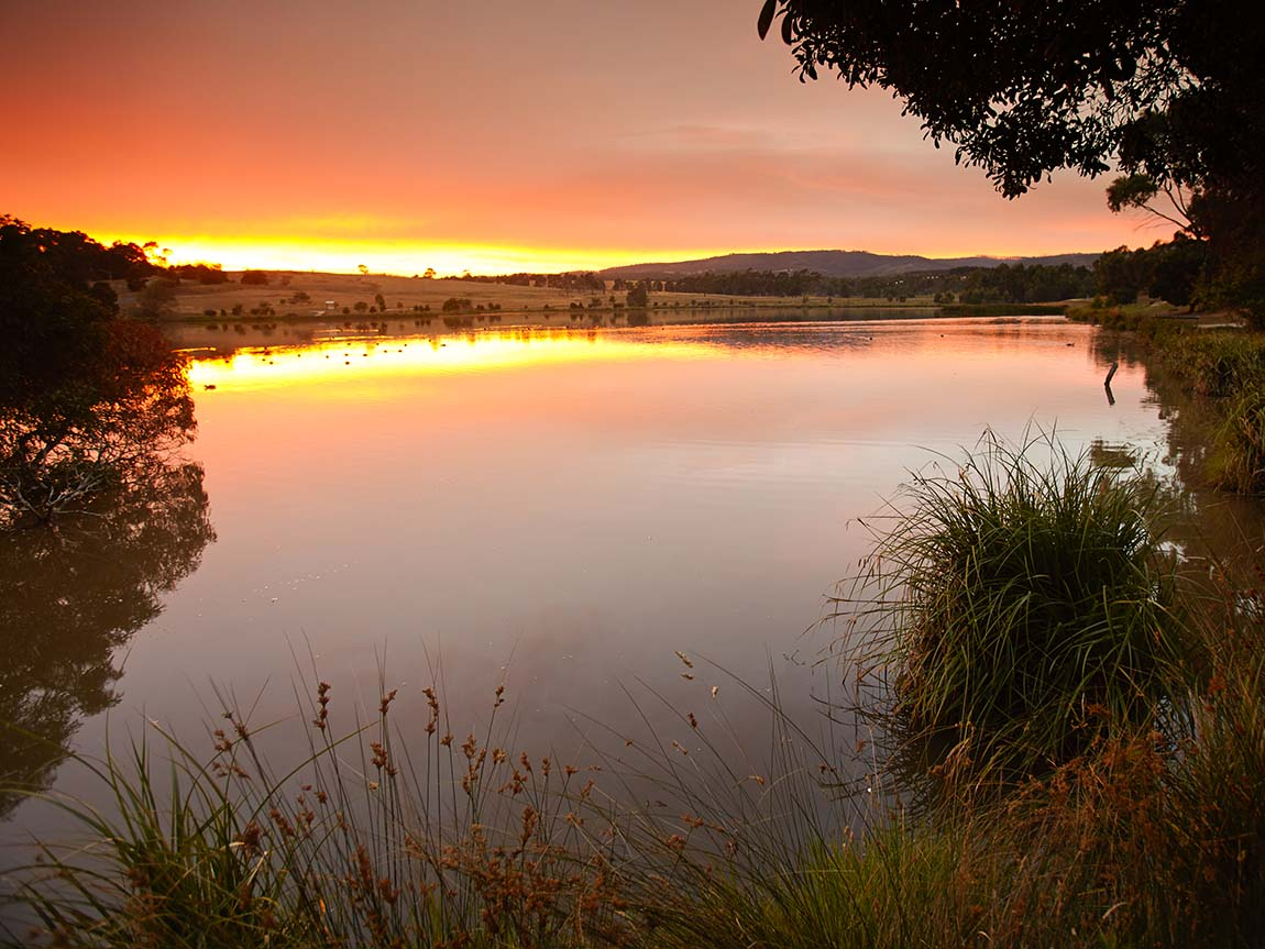 Sunset in Churchill, Gippsland, Victoria, Australia