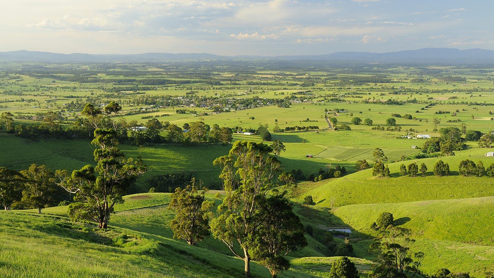 Farmland in Yarragon, Gippsland, Victoria, Australia