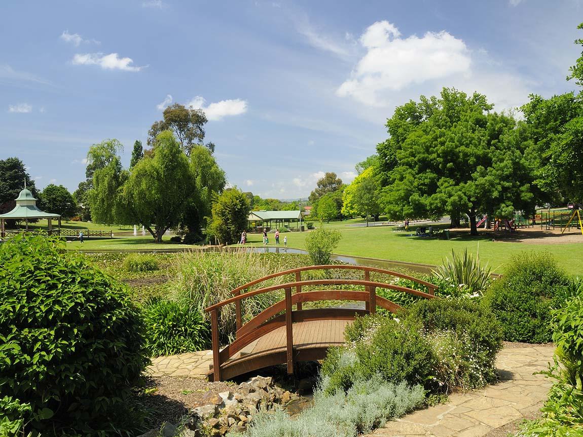 Park in Warragul, Gippsland, Victoria, Australia