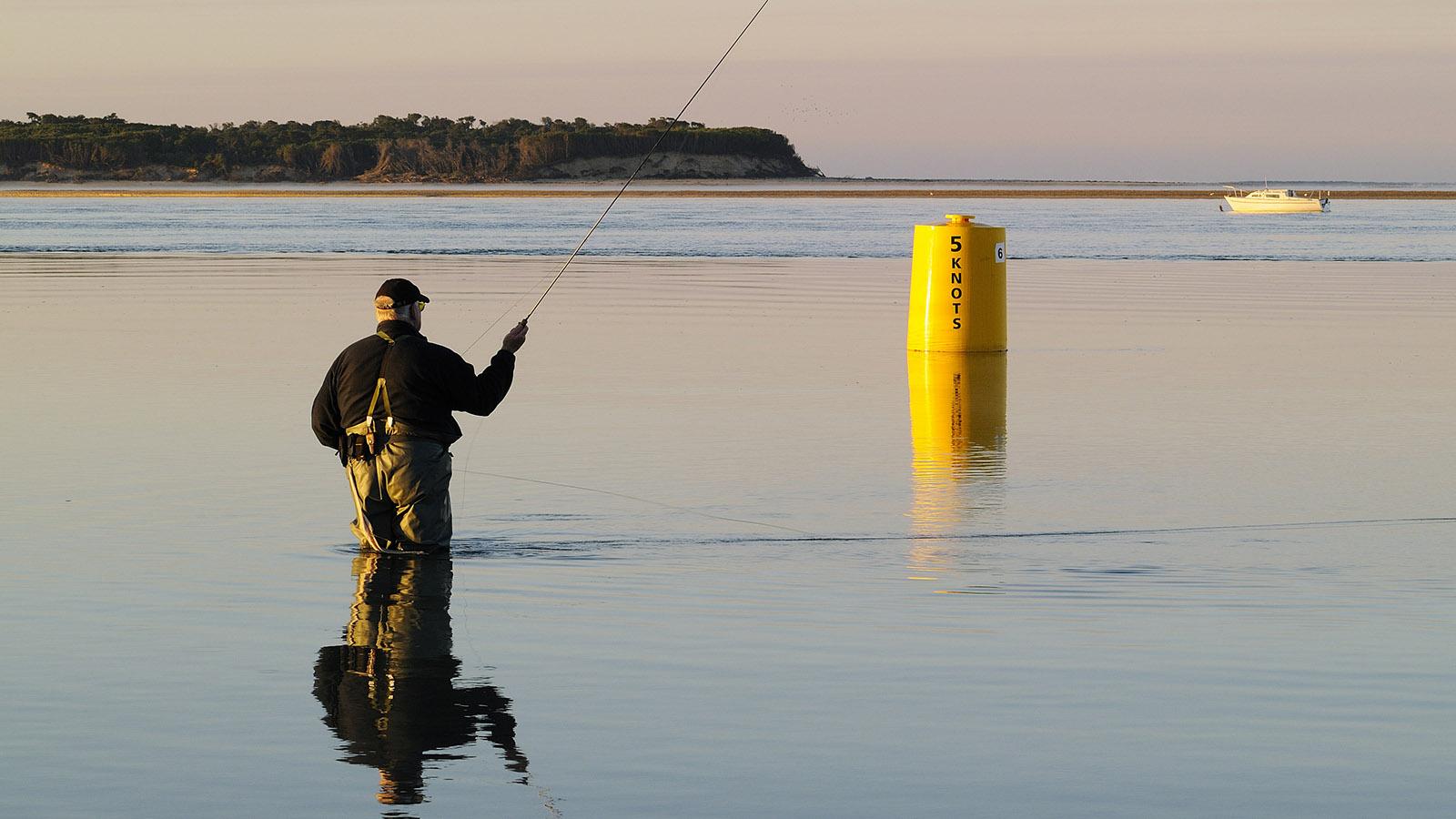 Fishing in Inverloch, Gippsland, Victoria, Australia