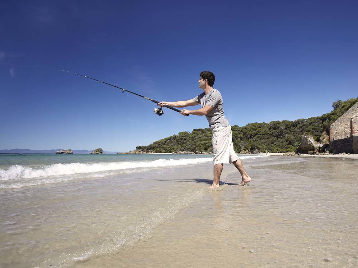 Fishing at Walkerville South, Gippsland, Victoria, Australia