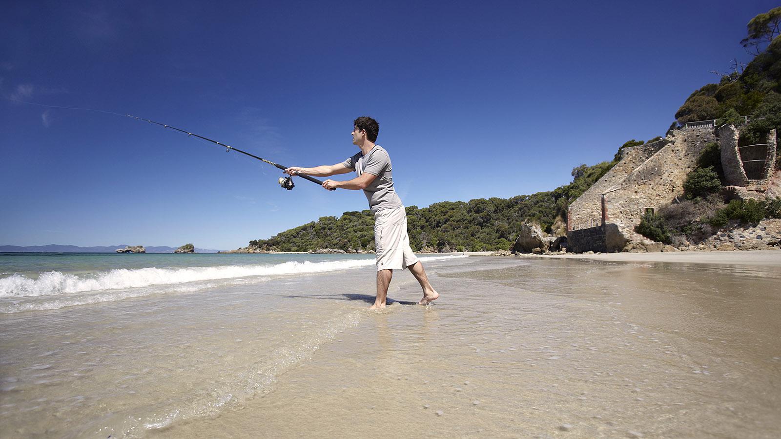 Fishing at Walkerville, Gippsland, Victoria, Australia