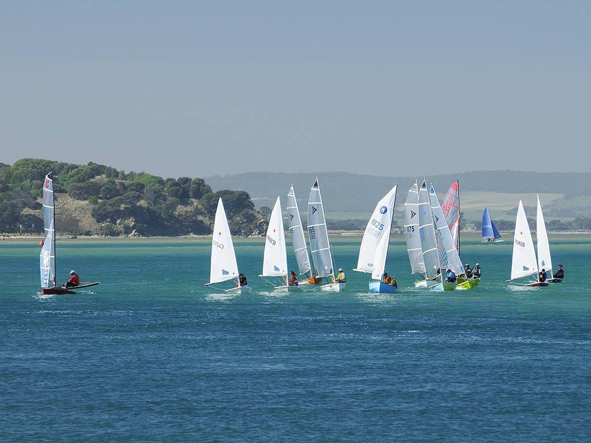 Sailing at Inverloch, Gippsland, Victoria, Australia