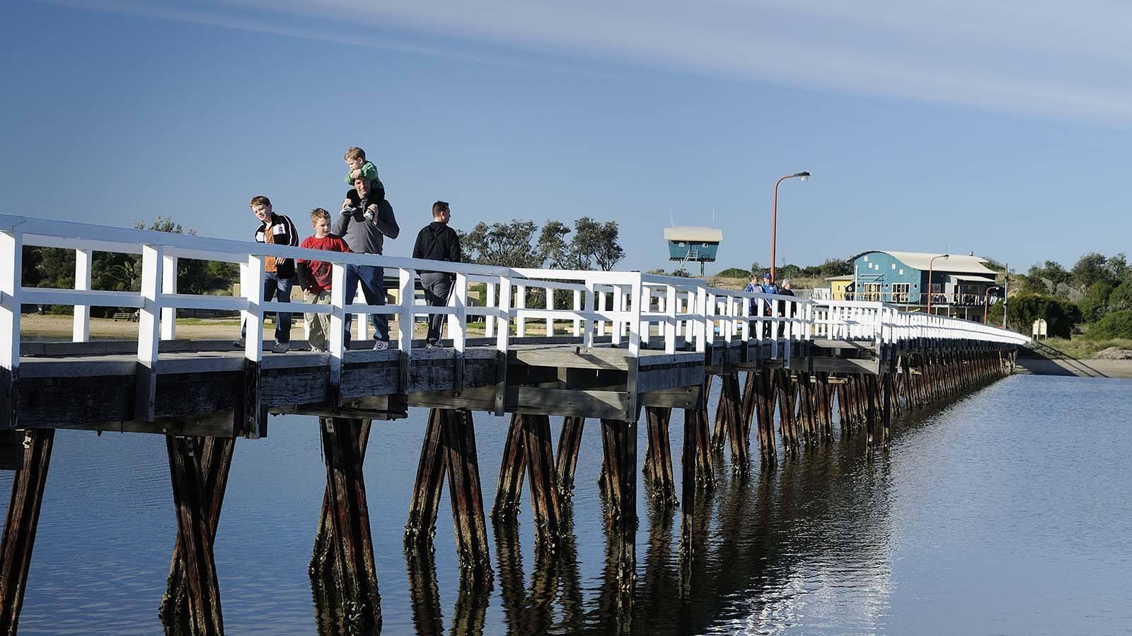 Entrance to the Lakes Walk, Gippsland, Victoria, Australia