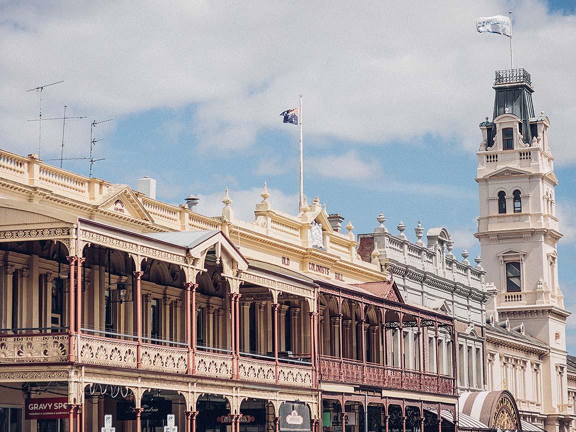 Ballarat streetscape, Goldfields, Victoria, Australia