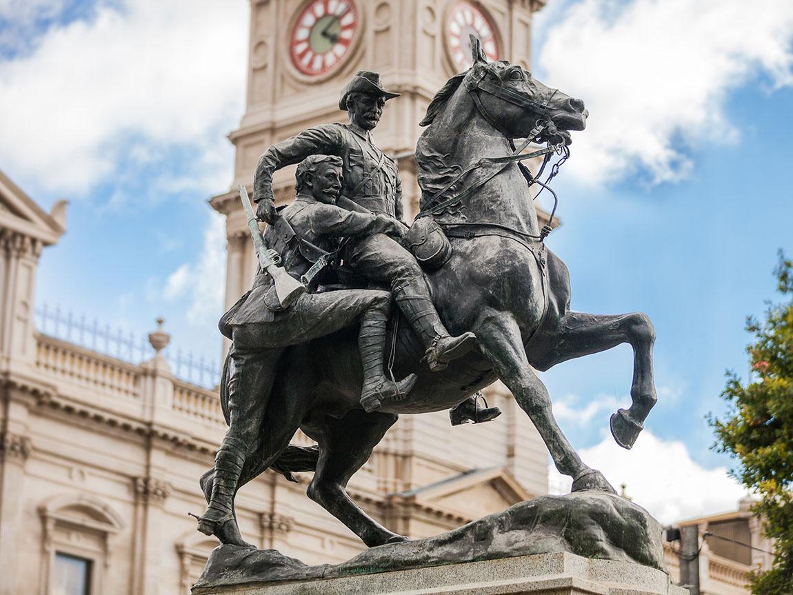 Statue in Ballarat, Golfields, Victoria, Australia