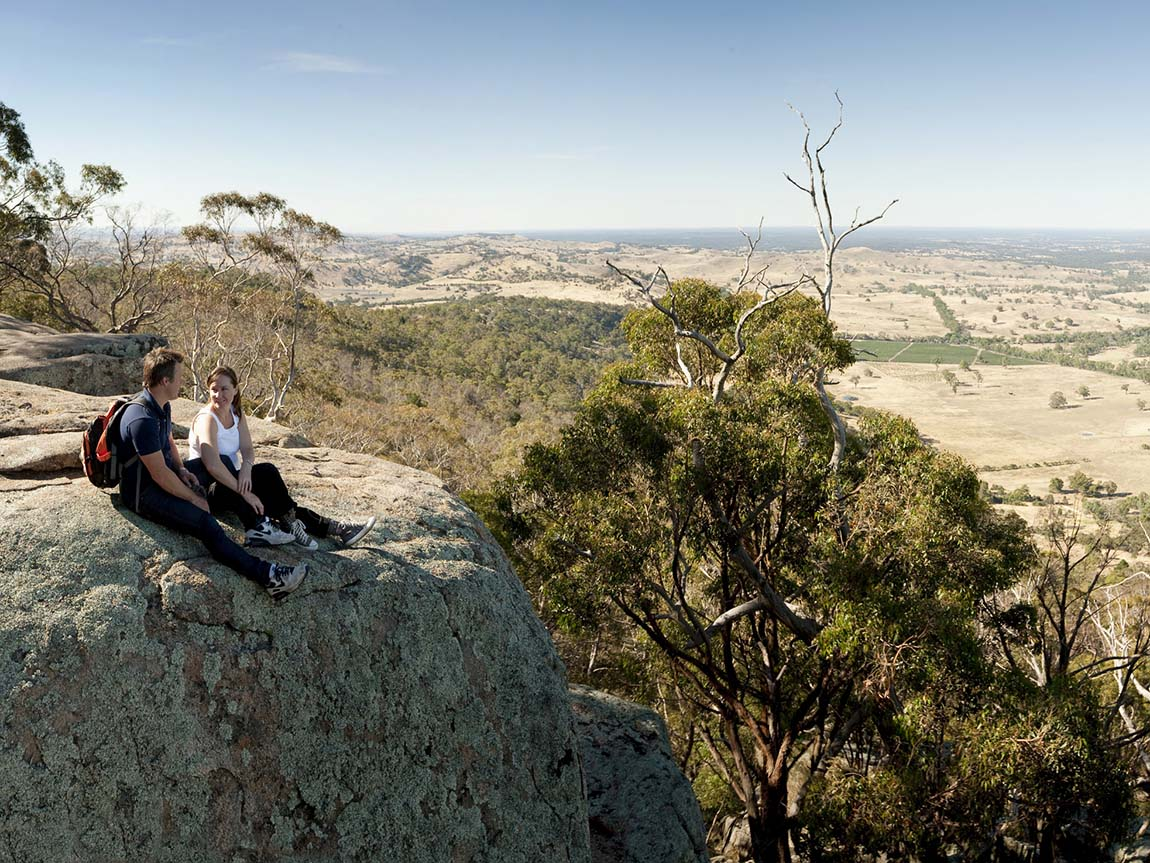 Langs Lookout, Mt Alexander, Goldfields, Victoria, Australia