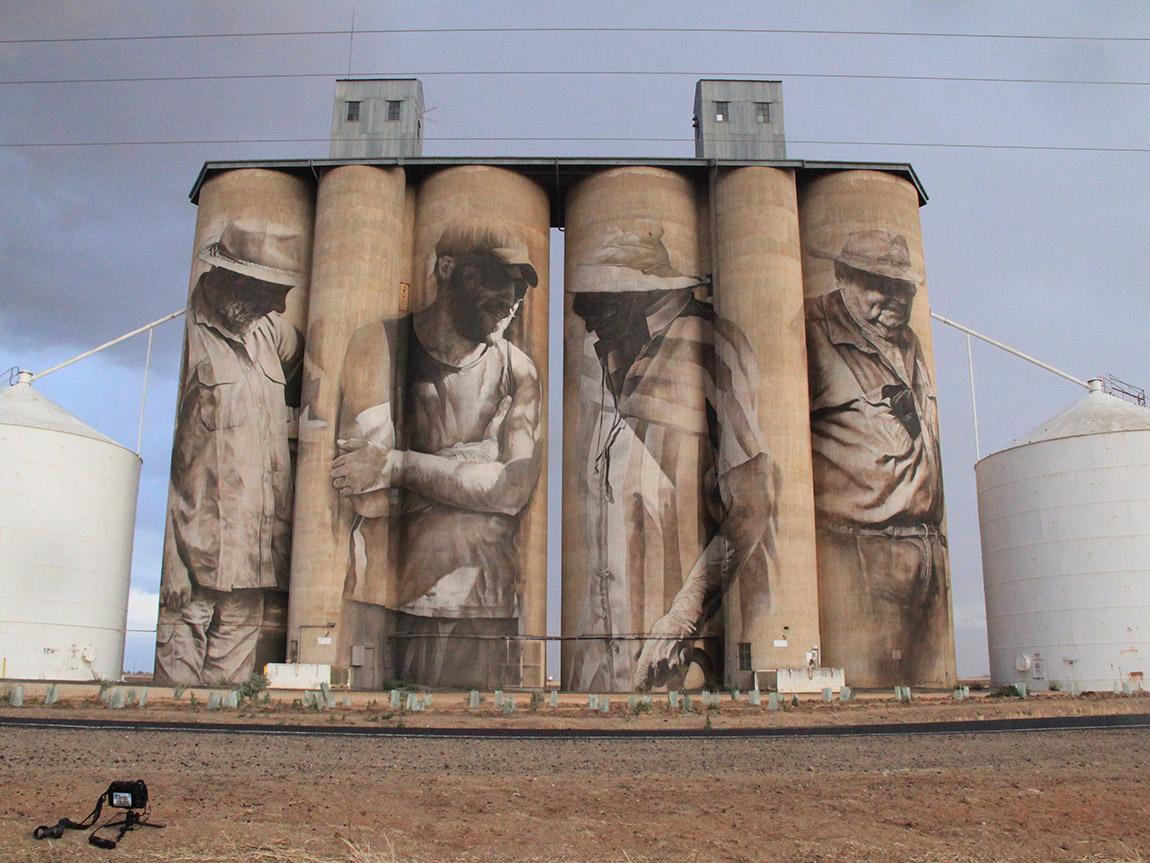Brim Silo Art, Grampians, Victoria, Australia