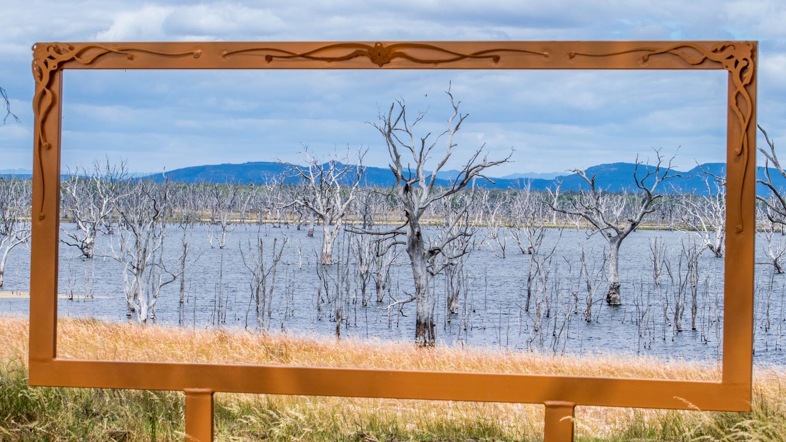 Toolondo Reservoir, Framing the Wimmera, Grampians, Victoria, Australia