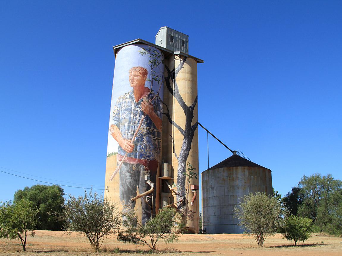 Patchewollock Silo Art, Grampians, Victoria, Australia
