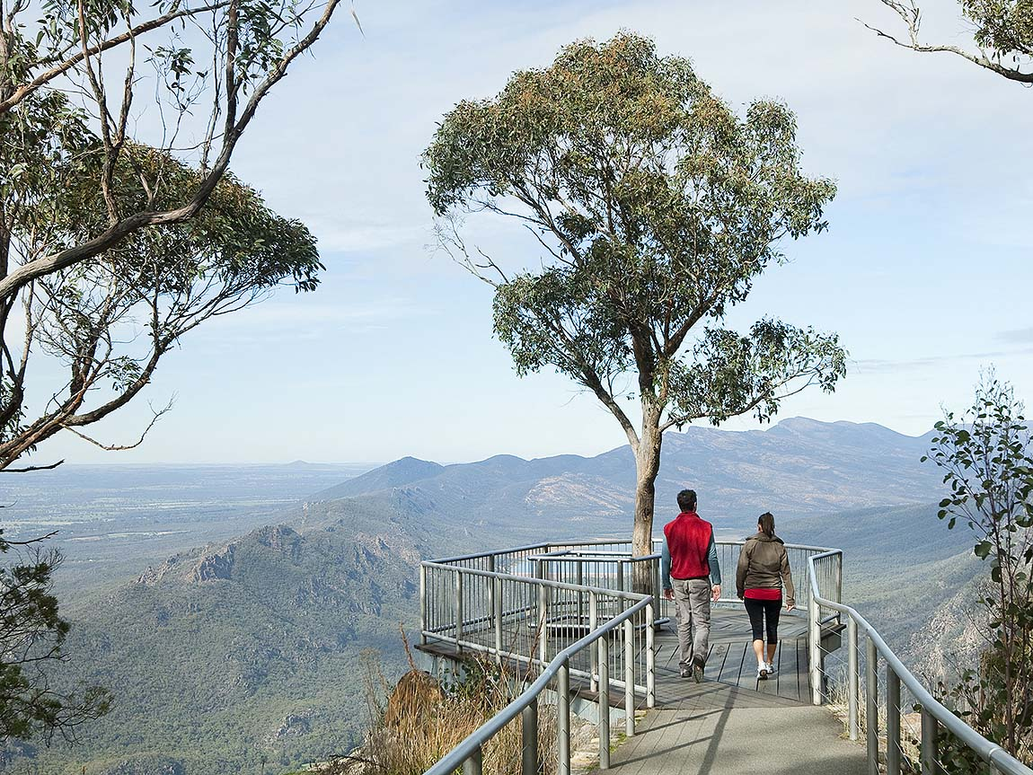 Couple at Boroka Lookout, Grampians, Victoria, Australia