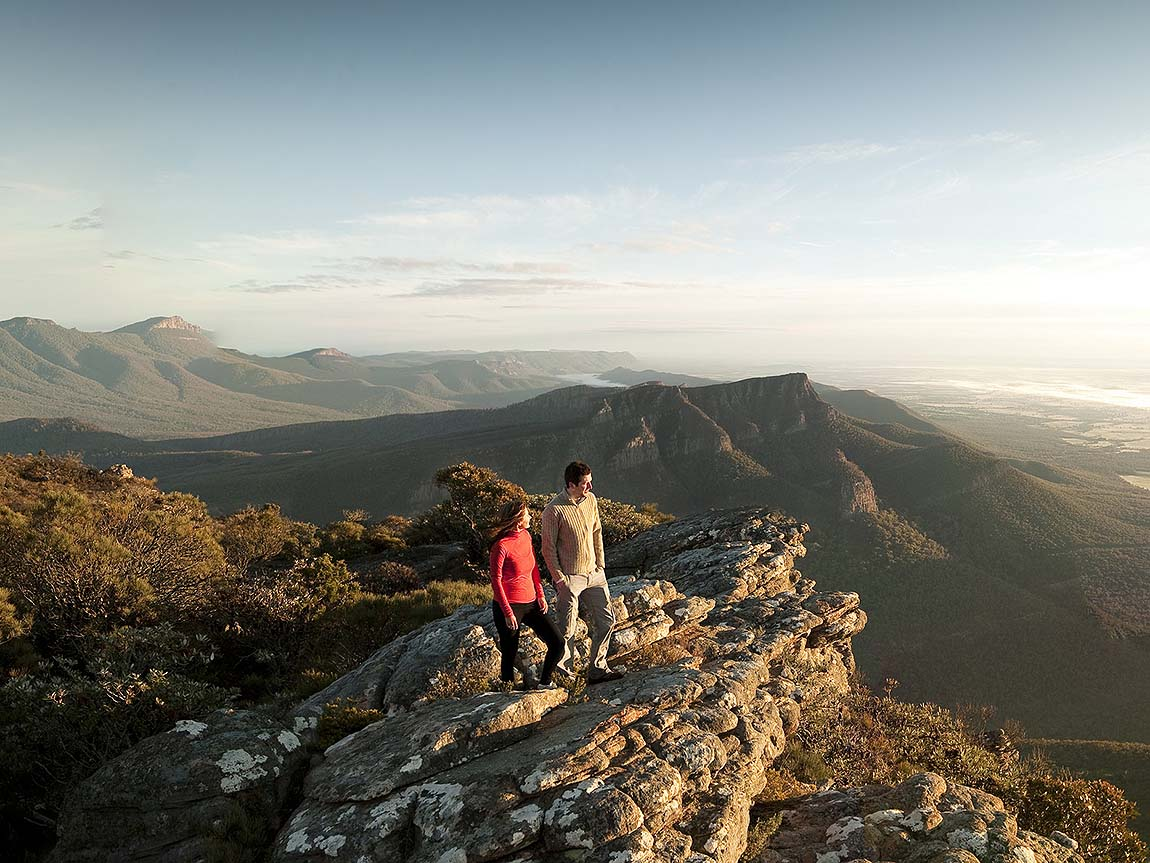 Couple on the top of Mount William, Grampians, Victoria, Australia