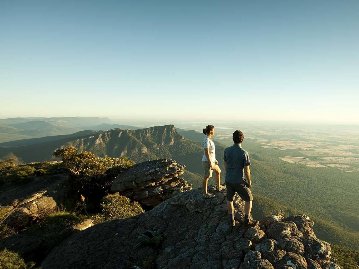 Couple on the top of Mount William, Grampians Victoria, Australia