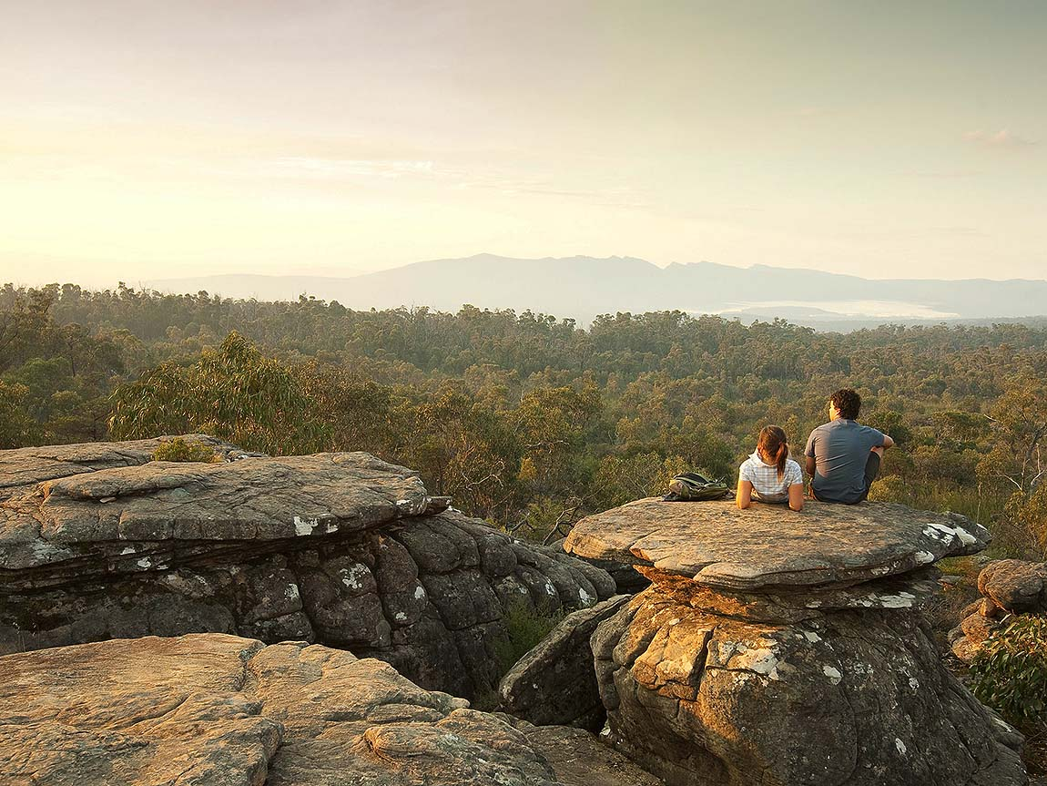 Couple at Reed Lookout, Grampians, Victoria, Australia