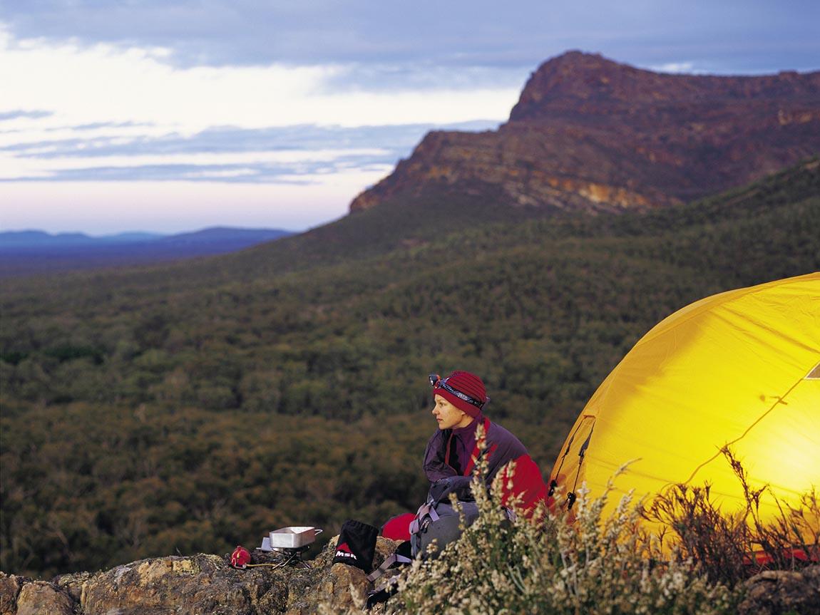 Camping in Grampians National Park, Grampians, Victoria, Australia