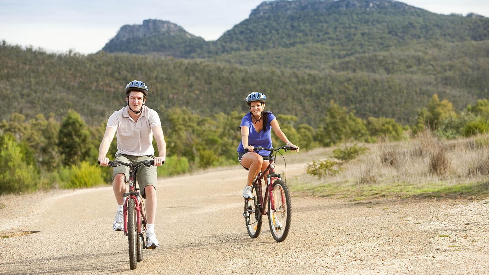 Cycling, The Grampians, Victoria, Australia