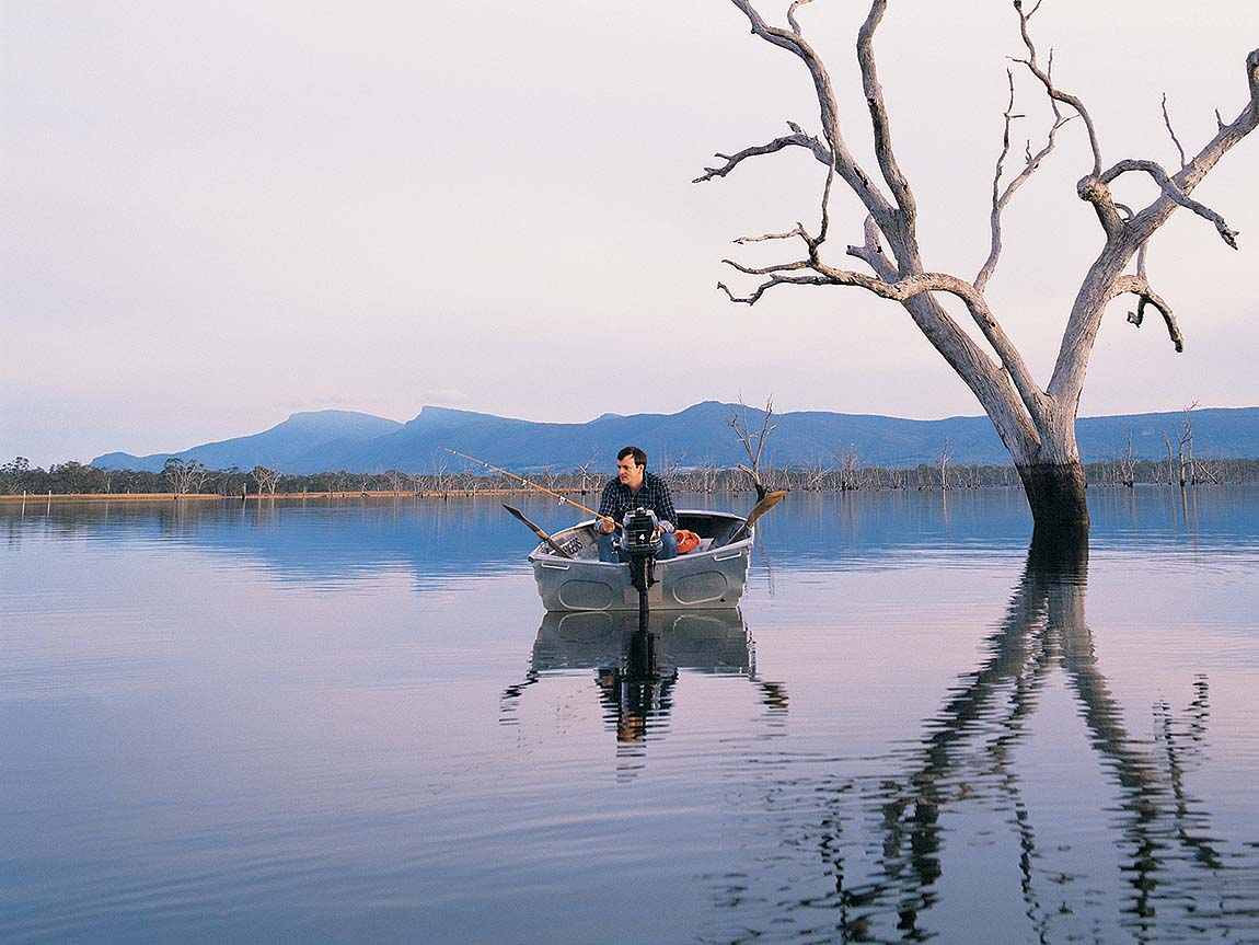 Fishing in Grampians National Park, Grampians, Victoria, Australia