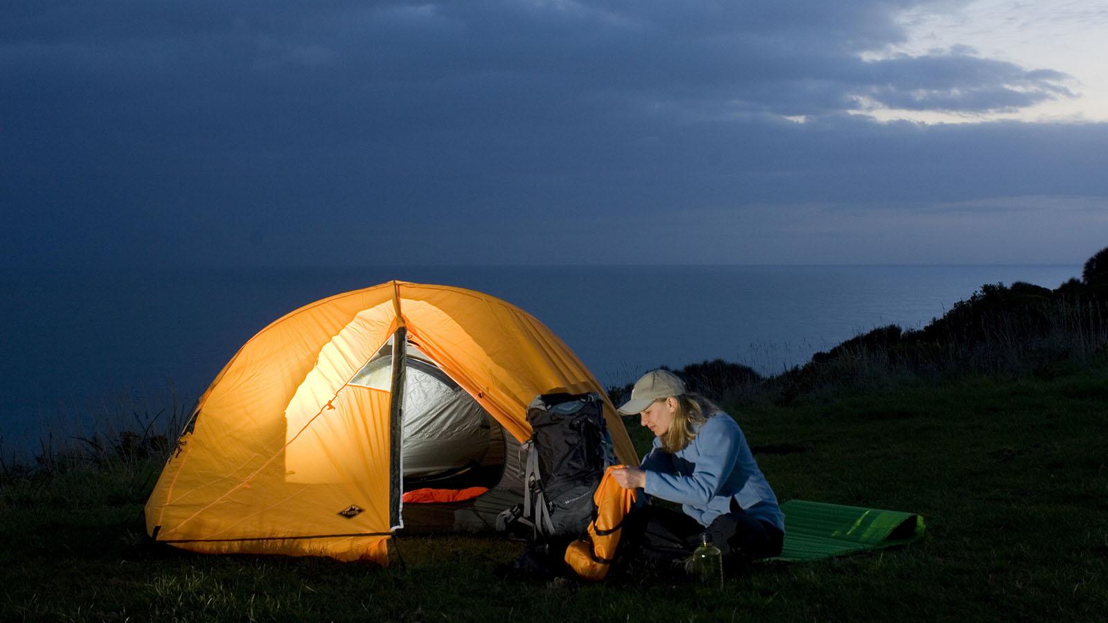 Camping, Great Ocean Road Victoria, Australia