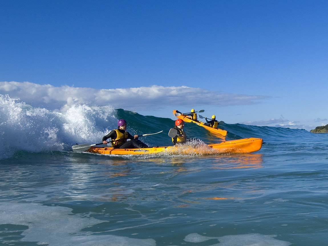 Kayaking at Marengo Beach, Great Ocean Road, Victoria, Australia