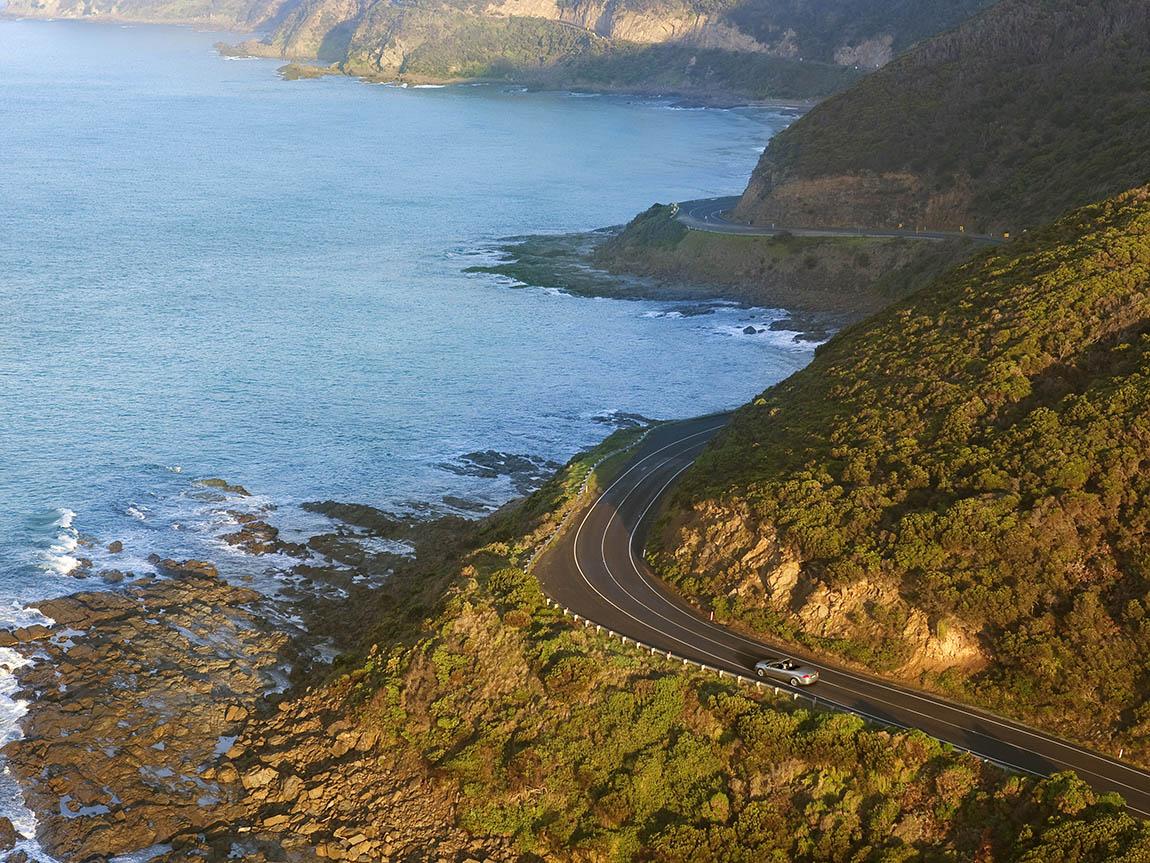 Driving the Great Ocean Road, Victoria, Australia