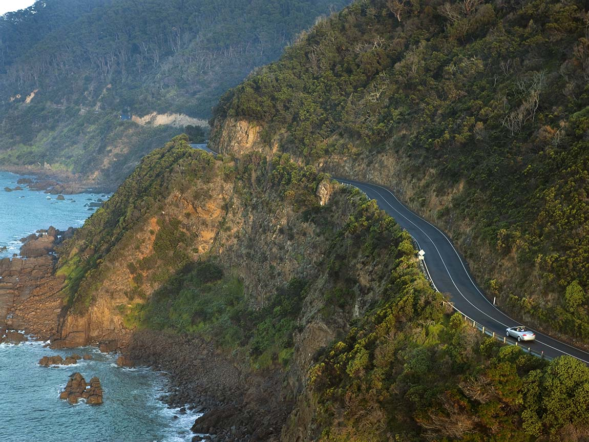 Driving the Great Ocean Road, Victoria, Australia