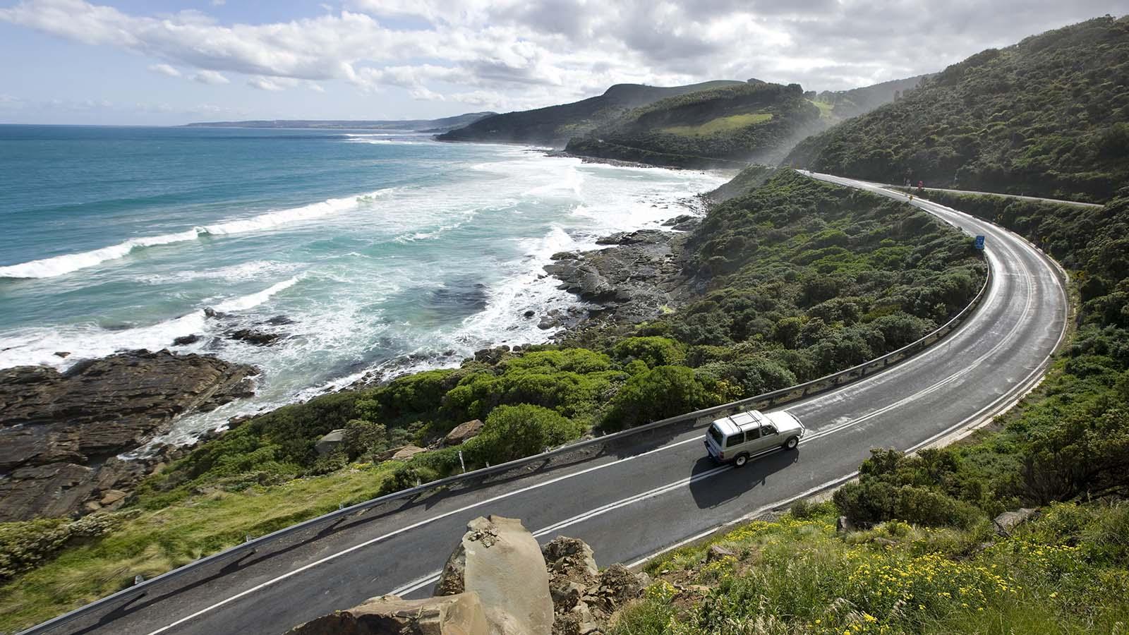 Driving, Great Ocean Road, Victoria, Australia