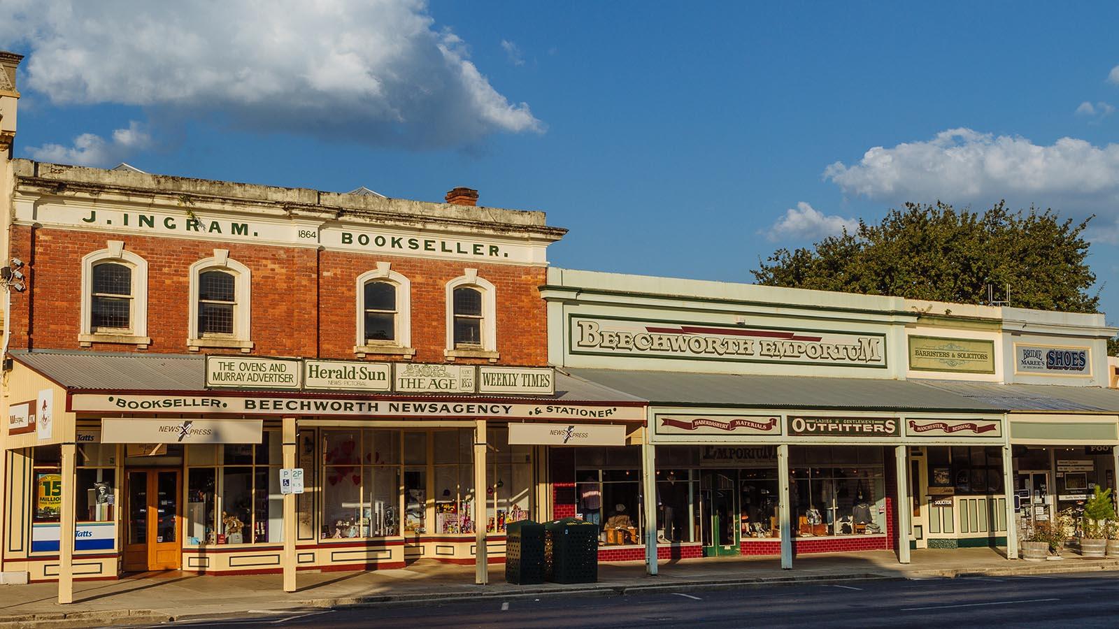 Beechworth streetscape, High Country, Victoria, Australia