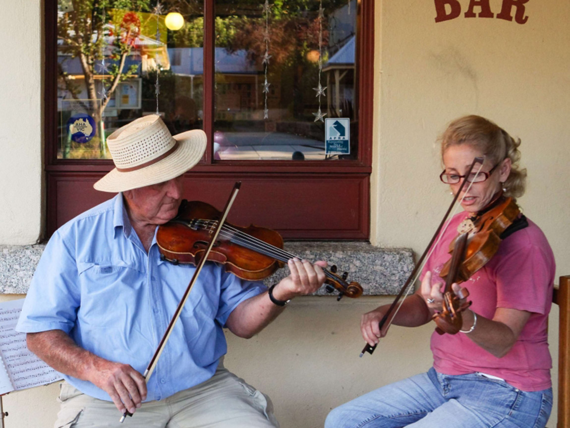 Musicians in Yackandandah, High Country, Victoria, Australia
